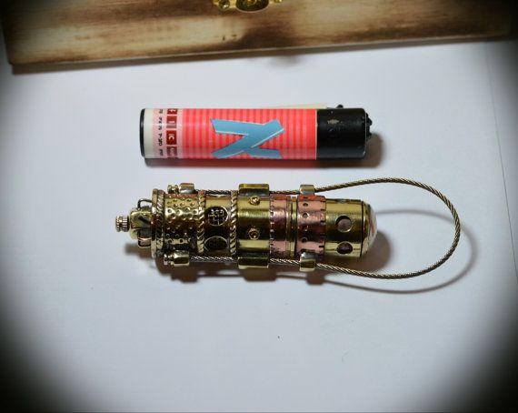 Steampunk flash drive Sling & brass mémoire 32 Go par MagenKening