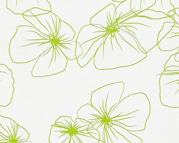 Vliestapete Lars Contzen 4 Design 95523-1 Tapete Floral grün weiß (2,41€/1qm)