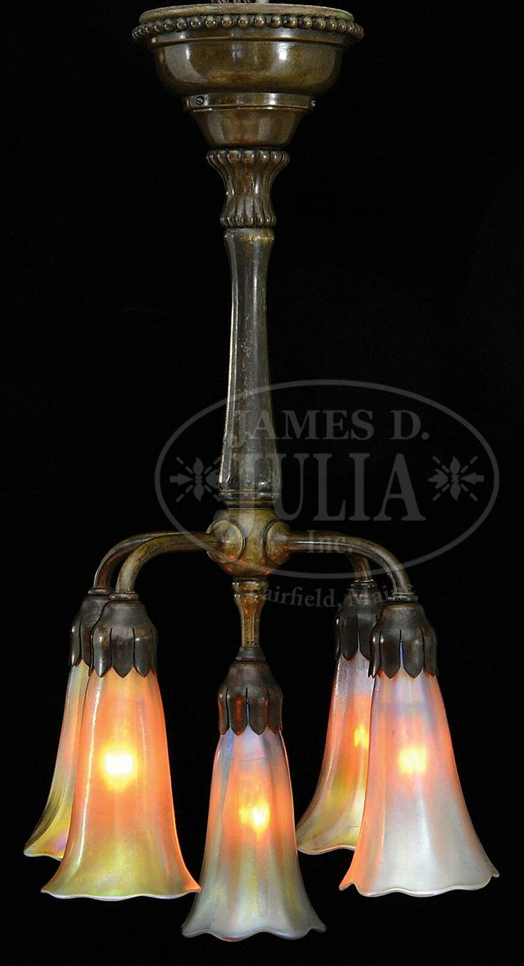 395 best lamps images on pinterest tiffany lamps leaded glass and tiffany studios lily chandelier five light diminutive size chandelier has a bronze ceiling cap arubaitofo Choice Image
