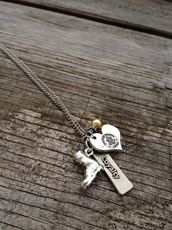 Army Necklace / Army Wife / Army Girlfriend / Army by CADETcouture, $20.00