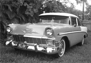 1950s classic car- oh my gosh, reminds me of one Dana had!!