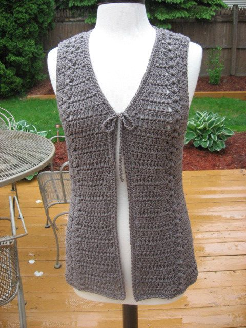 Meadows Vest with Matching Belt Crochet by nutsaboutknitting, $4.40