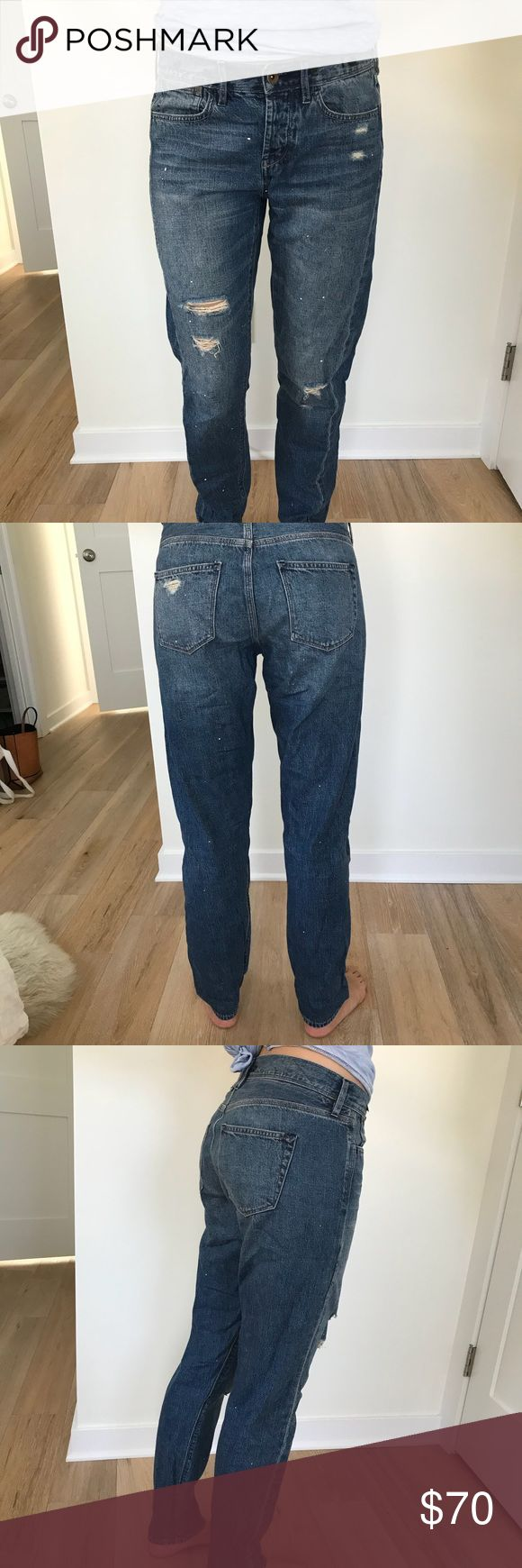 Madewell by Rivet and Thread worker jean Sz 25 Madewell by Rivet and Thread worker jeans. Boyfriend style, size 25. Made to fit loosely! Limited edition and small batch, Rivet & Thread designs are future keepsakes crafted in Los Angeles from top-of-the-line fabrics. Take these jeans, for example: Made of Japanese denim, they are a next-level version of a boyfriend fit. Premium 100% cotton denim from Japan's legendary Kaihara mill. Worn-in indigo wash with a sun-faded feel; hand-placed…