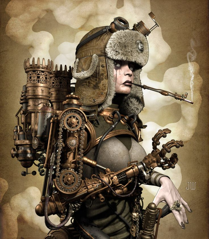 SteamGirl  by ~ZephyrChef  Digital Art / 3-Dimensional Art / Characters / Female©2010-2011 ~ZephyrChef
