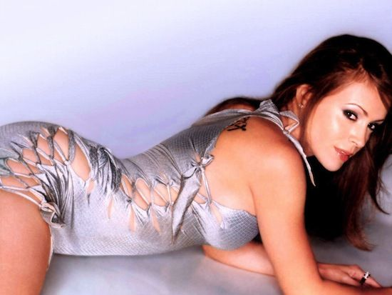 allysa milano ass sexy hot naked