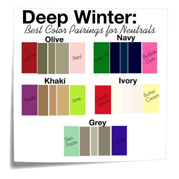 Pairing Neautrals for Deep Winter Color Pallet – Glimpse                                                                                                                                                                                 More