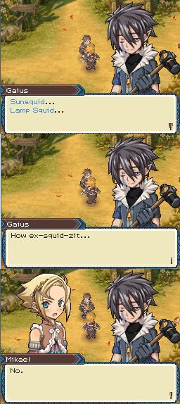 Gaius is so punny. From Rune Factory 3.