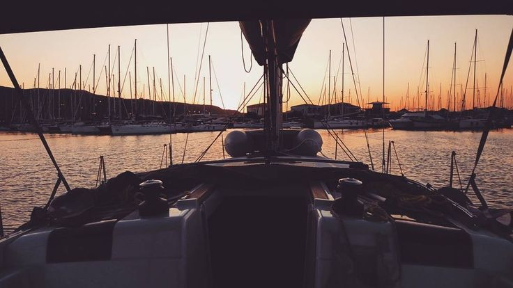 The golden hour after a good day's sail