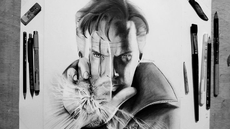 Drawing Benedict Cumberbatch | Dr. Stephen Strange || Doctor Strange