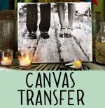 """this is a super neat way to make a canvas """"print"""" of any laser-printed photo. love it!"""