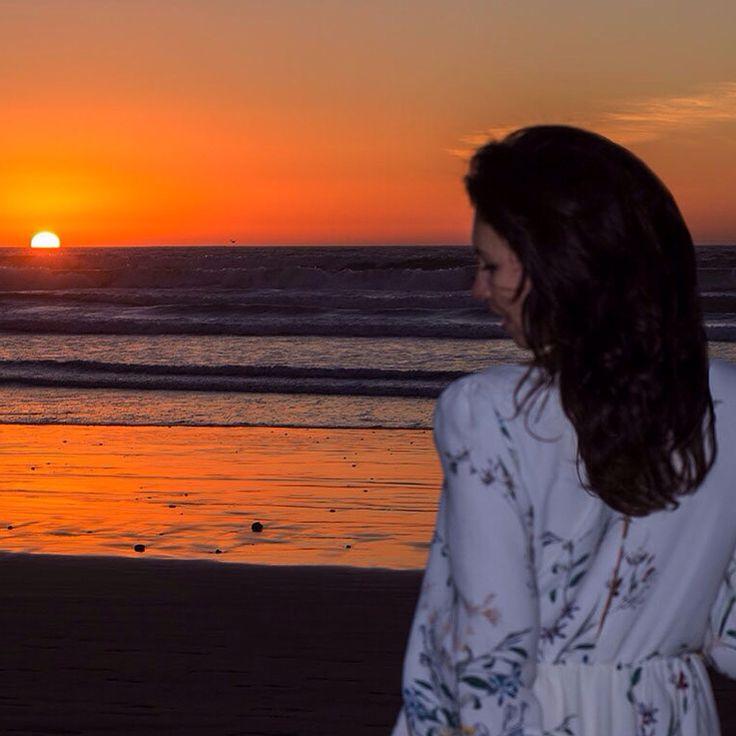Закат в Марокко. Золотой час.