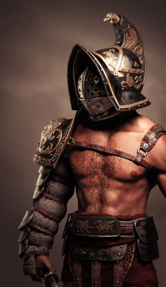 pictures of ancient gladiators | 566x976_7605_Gladiator_3d_fantasy_armor_warrior_anatomy_gladiator ...