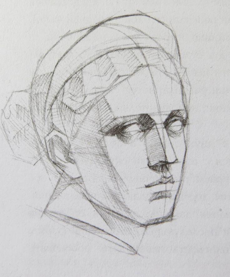 рисунок головы человека картинки снимка