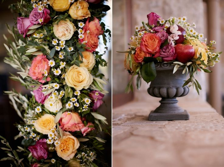 A big variety of colours and flowers    tangled to produce a elegant wedding combination!