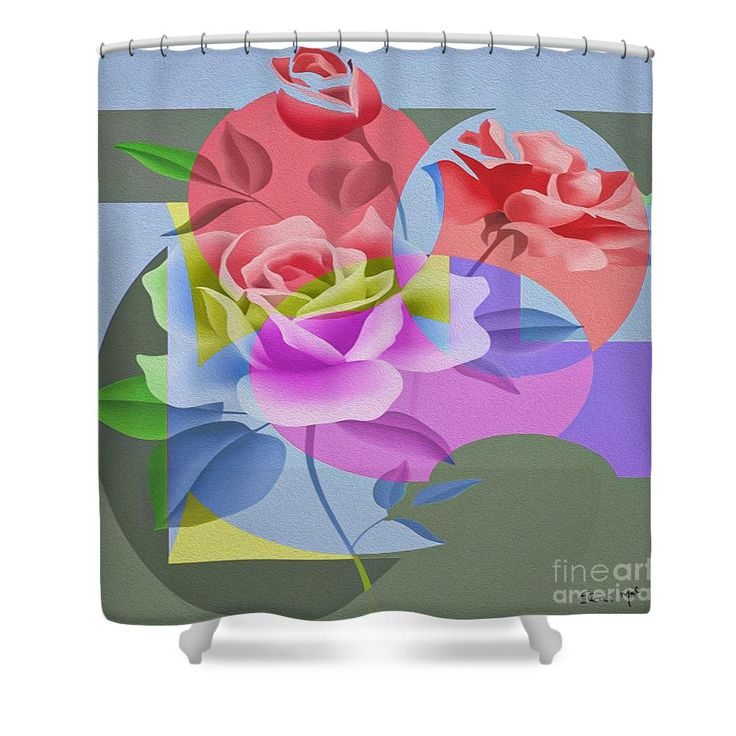 Roses For Her Shower Curtain by Eleni Mac Synodinos