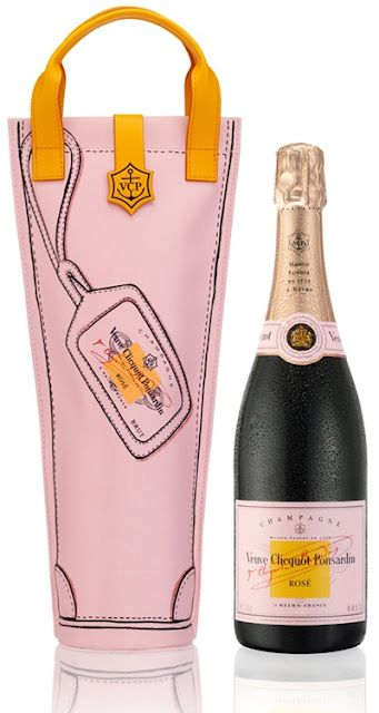 The perfect #pink accessory - Veuve Clicquot Ponsardin champagne, via Style Redux blog.