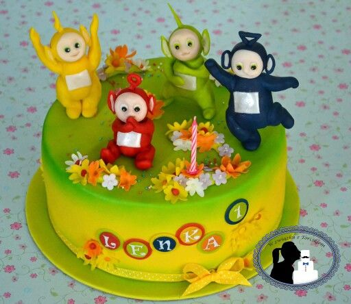 Airbrushed teletubbies cake