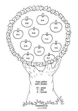 Matematika - jesenné pracovné listy - pre prvákov