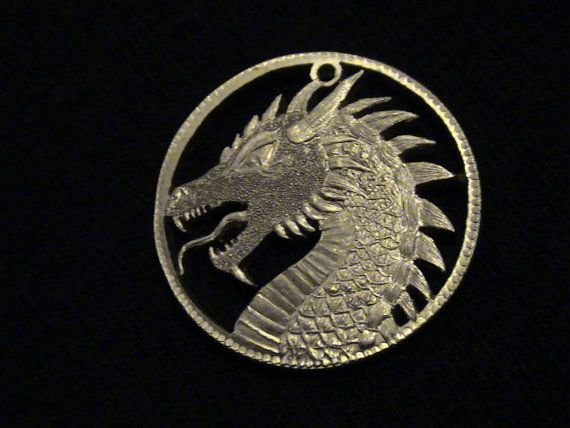 Golden Dragon of Jaechaerys I   cut coin pendant  by Petsalad A GAME OF THRONES