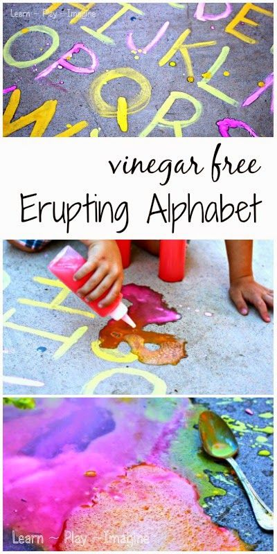A prewriting exercise your preschooler will never forget - making the alphabet erupt!