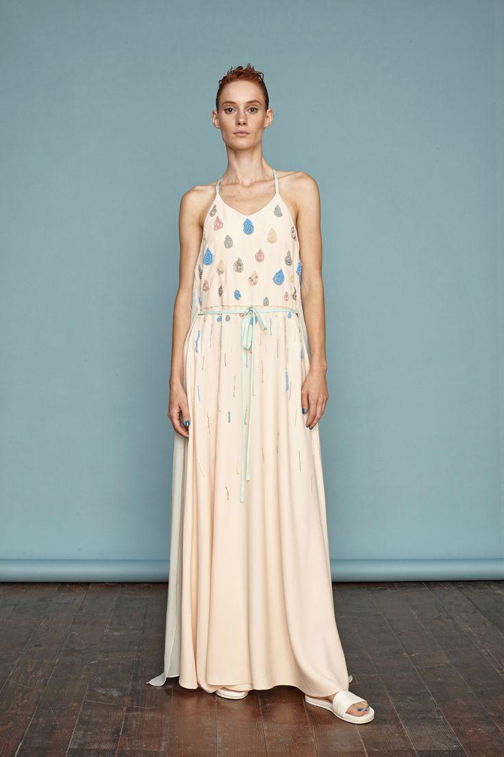 Embroidery dress from Dori Tomcsanyi. #doritomcsanyi #ss15 #imagedress #maxidress #collection #lookbook #handmade #embroidery