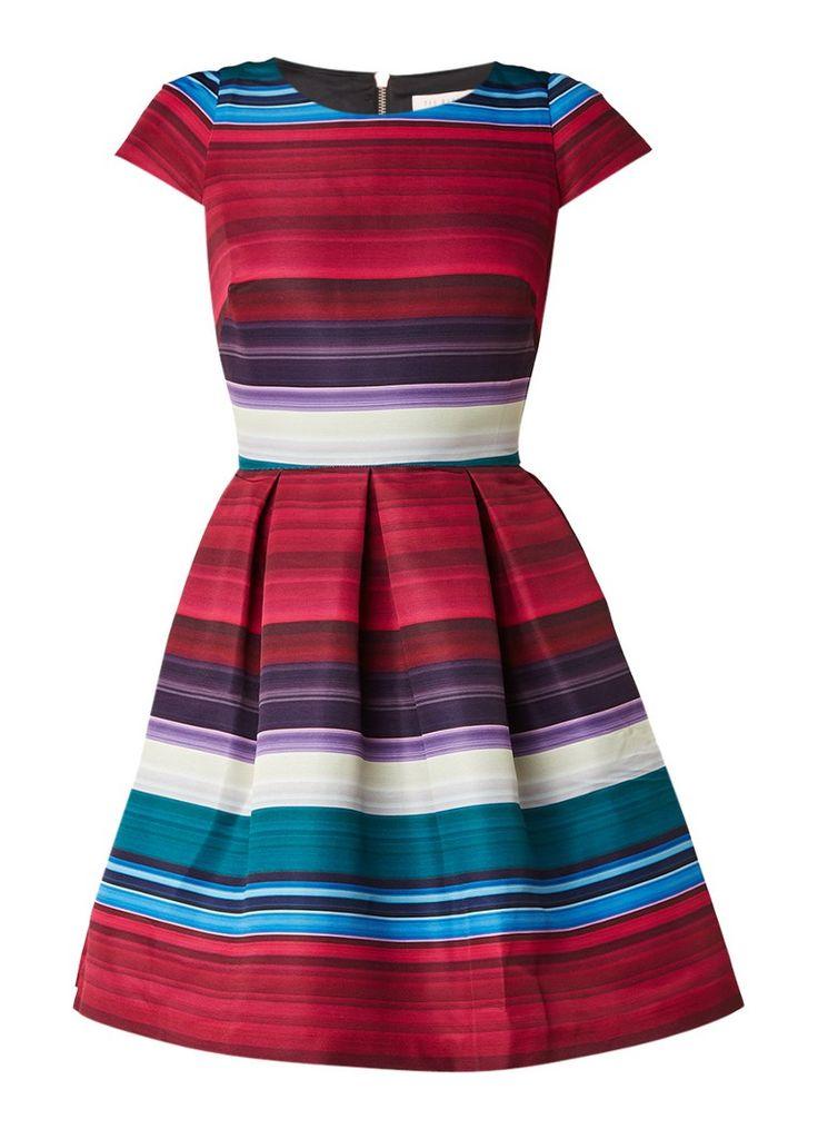 Ted Baker Rozah A-lijn jurk met streepdessin • de Bijenkorf