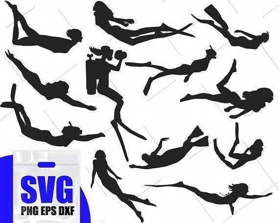 Diving Silhouette Scuba Dive Clip Art Scuba Diver Svg Girls Swimming Svg Sports Silhouette Water Sport Clip Art With Images Scuba Diver Tattoo Diving Silhouette Svg