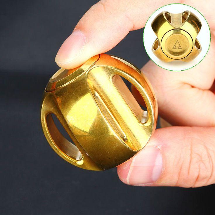 Mosiężny Fidget Ball Spinner //Cena: $80.00 & Zawsze darmowa dostawa! //     #SpinnerLandia