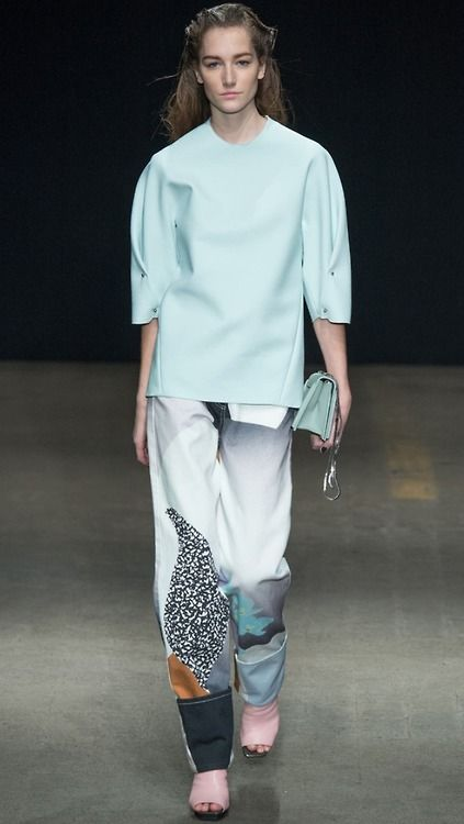 3.1 philip lim fw14. - minty and pattern contrast