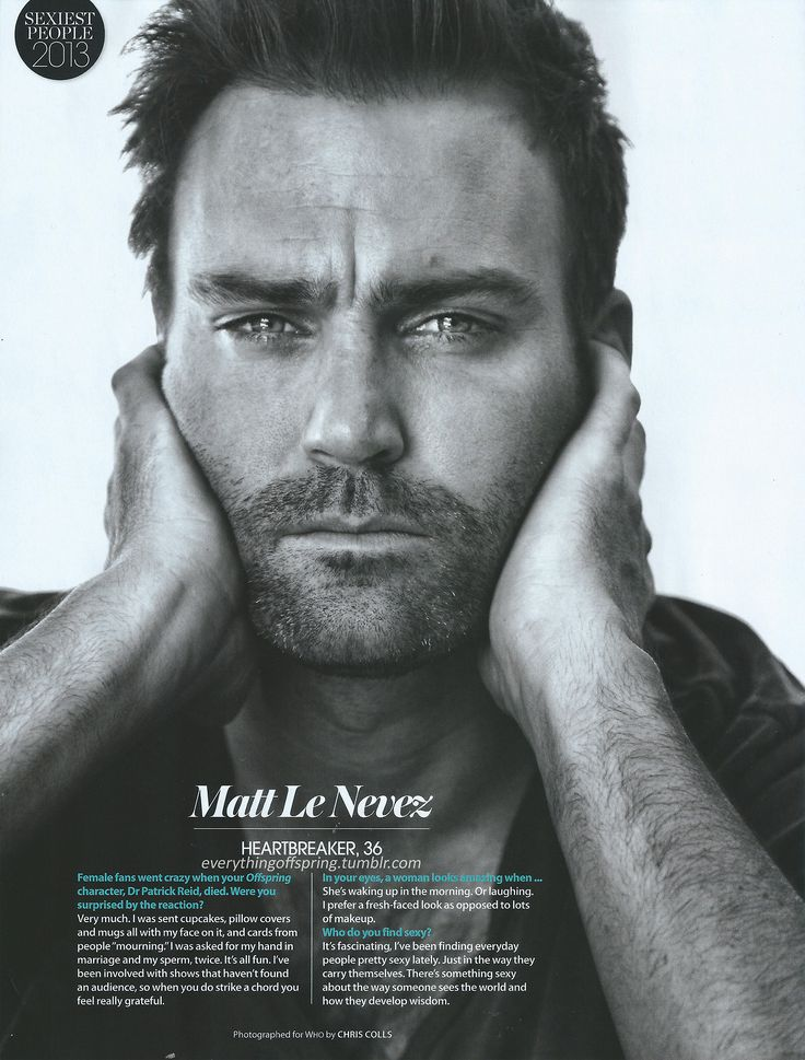Who Magazine's Sexiest People 2013 - Matt Le Nevez