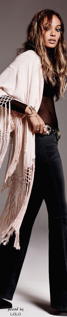 Joan Small for Free People, adjust sweater color to essence, i.e. a little peachier.