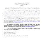 Merrill Lynch International & Co. C.V. Files Annual Financial Report