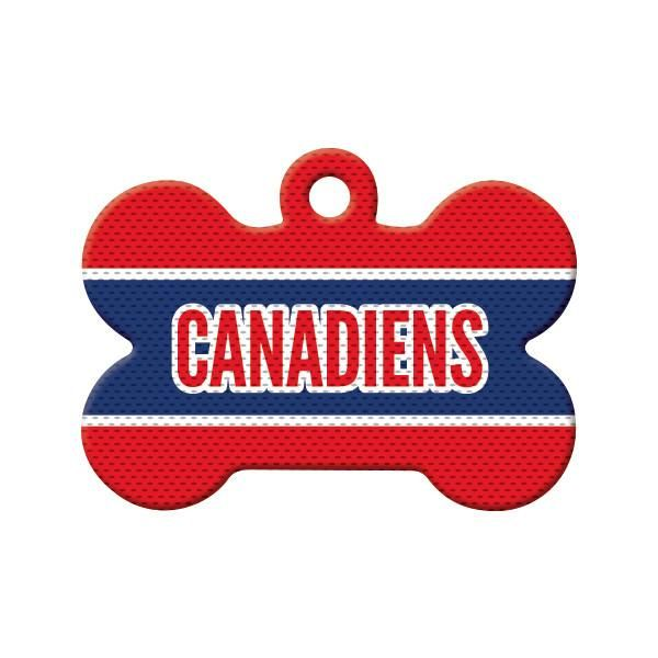 Canadiens Jersey Dog Tag -  Is your pet (or you) a Montreal Canadiens fan? Show your team spirit during the hockey season with our Canadiens Jersey design.