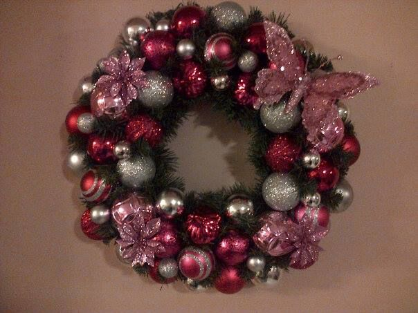 """This was done with a """"diva"""" in mind.  Lots of pinks and silvers.  She loved it!!"""