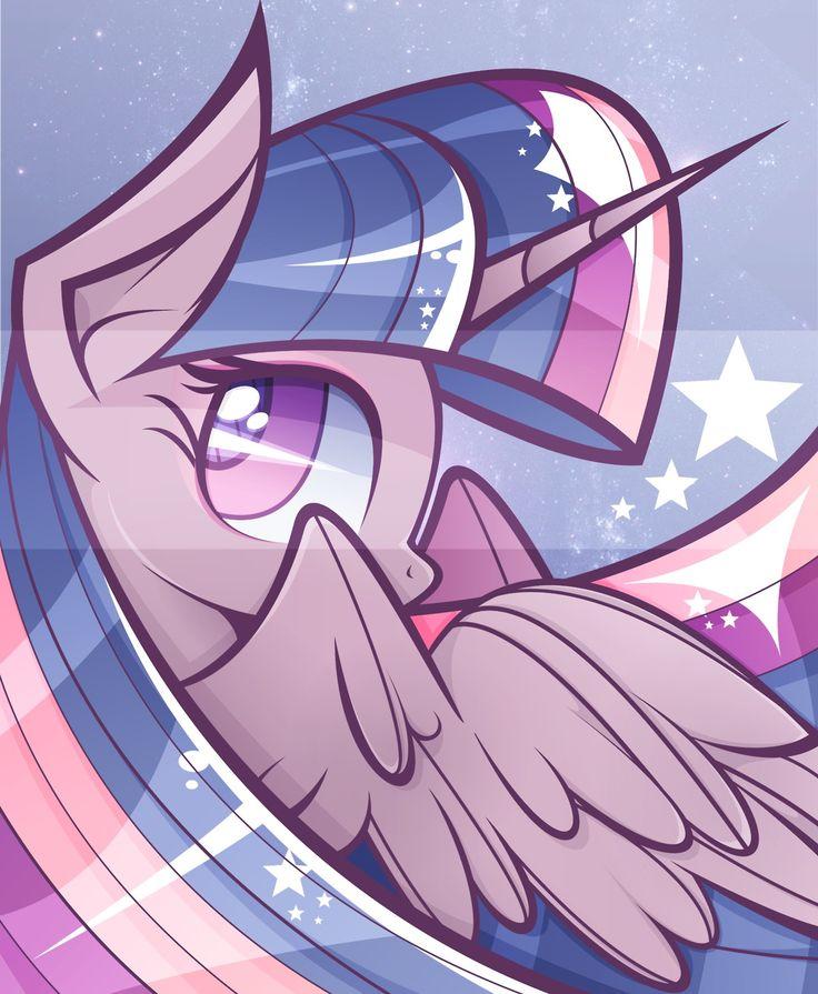 Twilight Sparkle-Cullen's favorite pony.  He's a Bronie :)