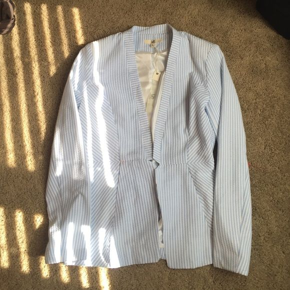 YA brand light blue seersucker blazer Size M YA Los Angeles light blue Seersucker blazer. New with tags. Size L. Jackets & Coats Blazers