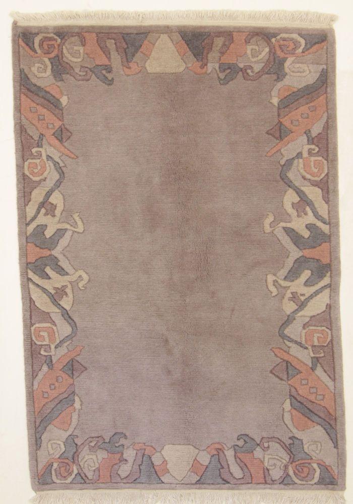 Nepal Teppich 100% Wolle  Handgeknüpft 183 x 127 cm Rugs orient preproga
