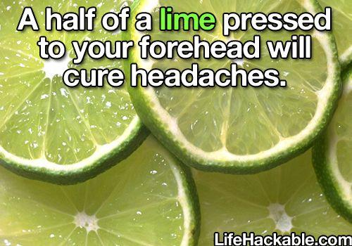 Lime on forehead for headaches diy easy diy remedies headache remedy home remedies life hacks health remedies headache headache cures