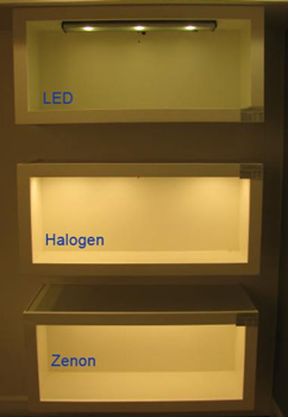 under cabinet lighting display