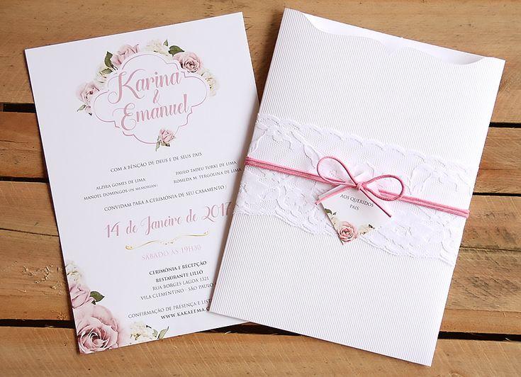 Convite de Casamento   Folha de Outono   Elo7