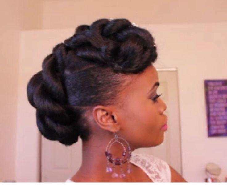 Bridal Updo on Ethnic Hair   Mosaic NaturalHair