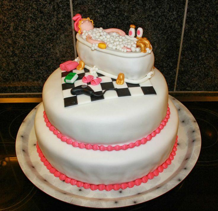 Fødselsdagskage Dame i bad Bath cake