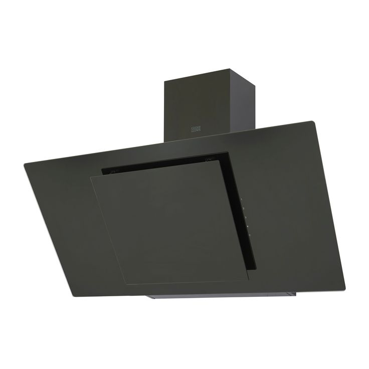 Cooke & Lewis CLAGB90 Black Steel & Glass Angled Cooker Hood, (W) 900mm | Departments | DIY at B&Q