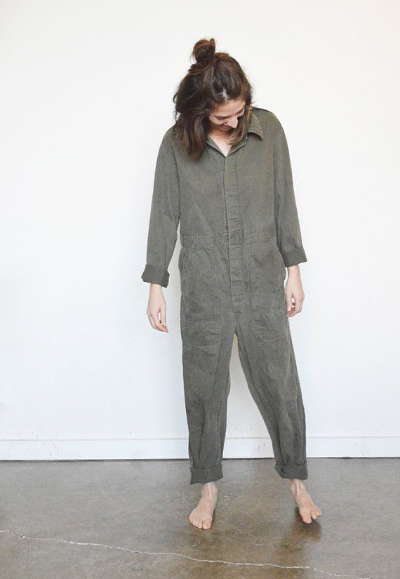 60s COVERALLS Dutch Work / Mechanic Coverall / size by shopfuture