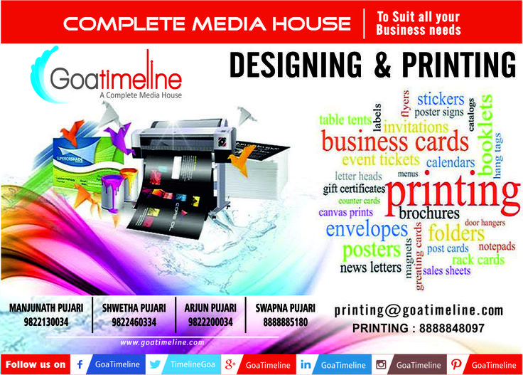 Superior quality printing and great customer service are just some of the reasons why businesses and everyday consumers trust us. Call us now for any Printing Service. #SocialMediaMarketing, #PublicRelations, #Printing, #advertising, #EventManagement, #PropertyManagement, #Education, #WebsiteDesigning, #LifestyleMagazine