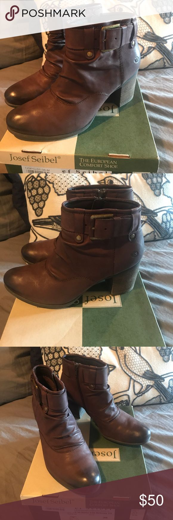 Josef Seibel Boots Super cute ! New in box . Color is Nesty Oil .European size is 38 . Which is 7.5-8 . Thanks ! Josef Seibel Shoes Ankle Boots & Booties