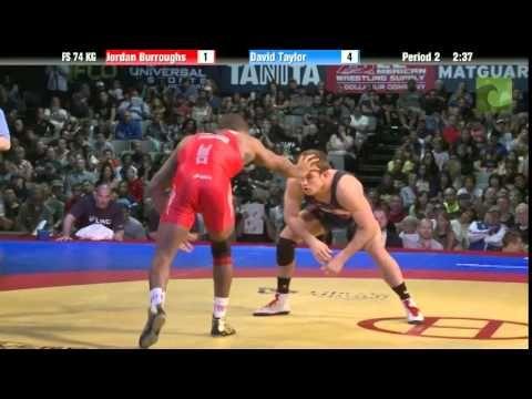 Holy match of matches.......Taylor ALMOST pulls it off....74 KG Finals - Jordan Burroughs (Sunkist Kids) vs. David Taylor (NLWC)