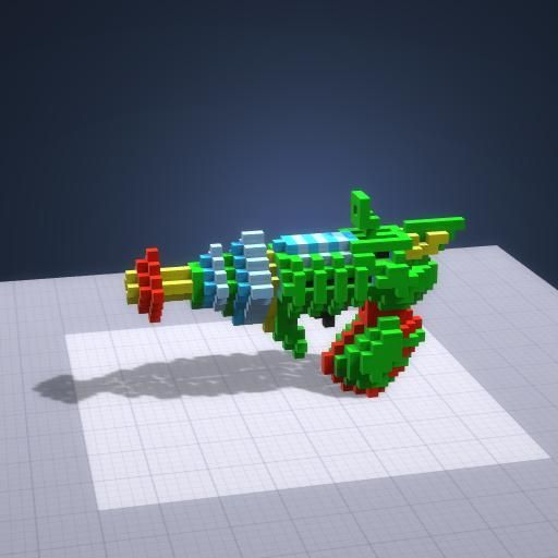 This Space Raygun was made in the free voxel engine - Makers Empire 3D