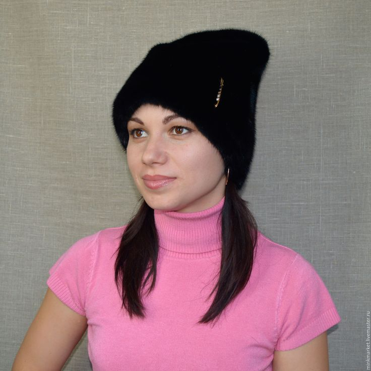 Купить Меховая шапочка Папаха Хит сезона! - черный, головной убор, головные уборы из меха
