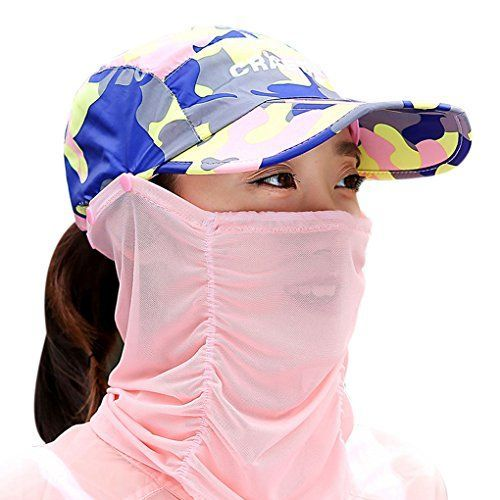 Summer Quick Dry Folding Wide Brim Sun Hat UV Block Face Protection Shield Mask Head Tube Sunhat Outdoor Cycling Hiking Fishing Fishermans Bucket Cap Travel Beach Golf Baseball Peaked Cap Strawhat -- Check out the image by visiting the link.